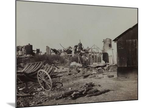 Sugar Factory in Berry-Au-Bac Destroyed by Bombing During World War I--Mounted Photographic Print