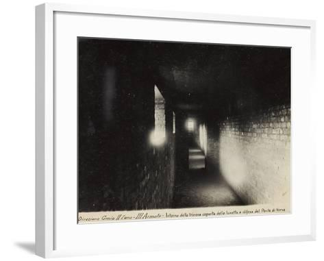 Leadership Corps of Engineers 2nd Area 3rd Army, View of Palikisce, Inside the Bezel of the Trench--Framed Art Print