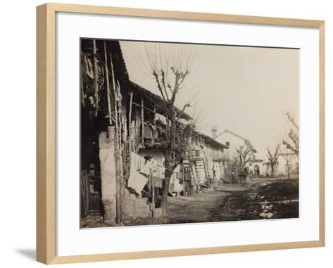 WWI: View of the City of Medeuzza--Framed Art Print