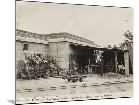 Leadership Corps of Engineers 2nd Area 3rd Army, Laboratory Carters (Wagons) in Perteole--Mounted Photographic Print