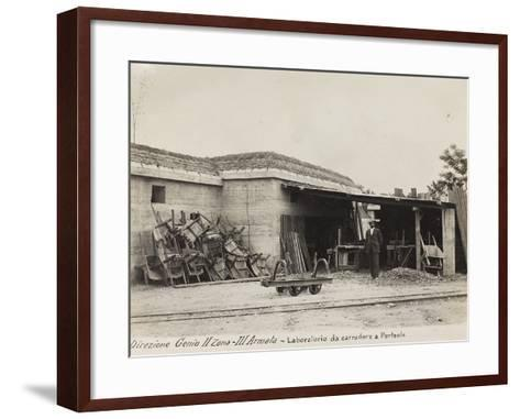 Leadership Corps of Engineers 2nd Area 3rd Army, Laboratory Carters (Wagons) in Perteole--Framed Art Print