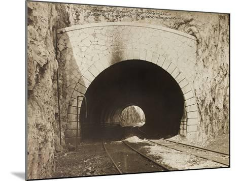 Leadership Corps of Engineers 2nd Area 3rd Army, Railway Tunnel Is in the Fogliano - Sagrado--Mounted Photographic Print