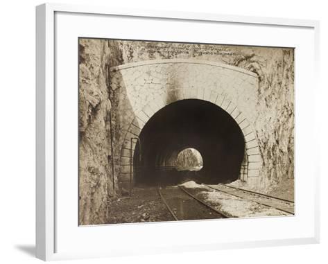 Leadership Corps of Engineers 2nd Area 3rd Army, Railway Tunnel Is in the Fogliano - Sagrado--Framed Art Print