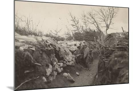 World War I: Trenches of the First Line in the Area of Tolmin--Mounted Photographic Print