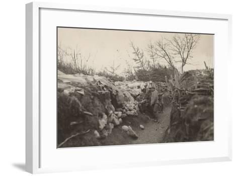 World War I: Trenches of the First Line in the Area of Tolmin--Framed Art Print