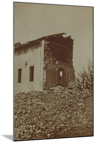 Rubble of a Bombed Farm--Mounted Photographic Print