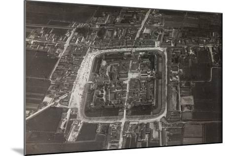 First World War: View of the City Taken from a Blimp of the Italian Army--Mounted Photographic Print