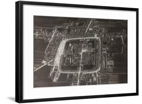 First World War: View of the City Taken from a Blimp of the Italian Army--Framed Art Print