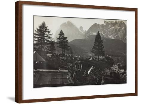 Military Camp at the Slopes of Mount Antelio--Framed Art Print