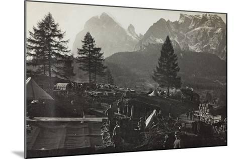 Military Camp at the Slopes of Mount Antelio--Mounted Photographic Print