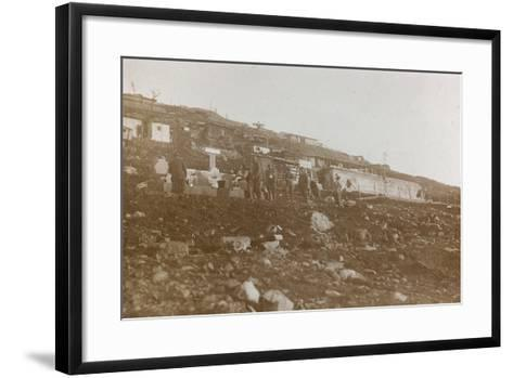 World War I: Tanks of Water in a Military Garrison in the High Mountains--Framed Art Print