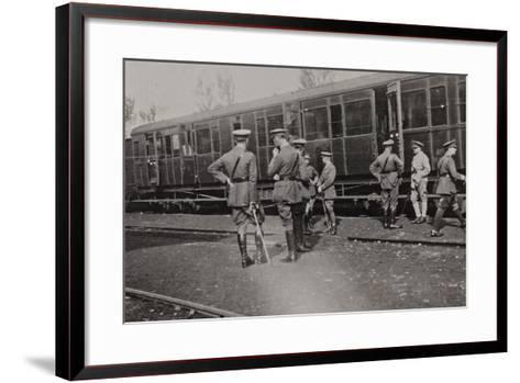 Campagna Di Guerra 1915-1916-1917-1918: Departure of the British Battalion from Cervignano--Framed Art Print