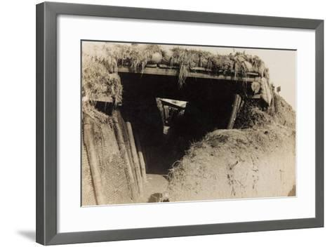 WWI: Trenches in Medea--Framed Art Print
