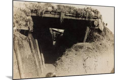 WWI: Trenches in Medea--Mounted Photographic Print