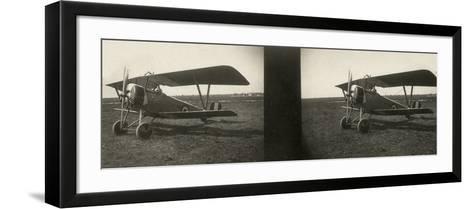 Italian Army Seaplane During the First World War, Newport--Framed Art Print