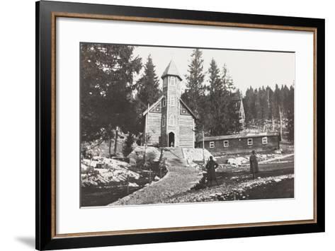 World War I: Church of a Austrian Small Hospital in the Rosato Field--Framed Art Print
