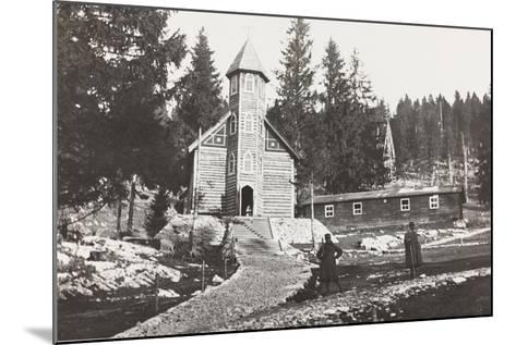 World War I: Church of a Austrian Small Hospital in the Rosato Field--Mounted Photographic Print
