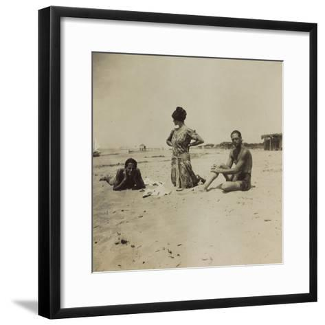 War Campaign 1917-1920: Group Photo on the Beach--Framed Art Print