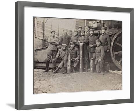 First World War: A Group of Belgian Artillery--Framed Art Print