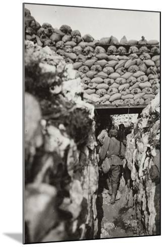 World War I: Italian Trenches in Podgora (Today Piedimonte of Calvary)--Mounted Photographic Print