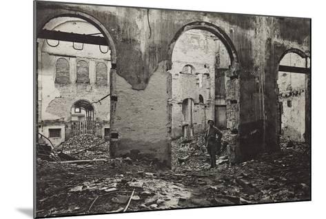 Udine, Interior of the Theatre Minerva Bombed--Mounted Photographic Print