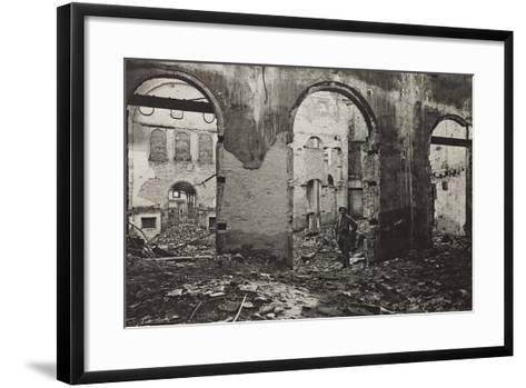 Udine, Interior of the Theatre Minerva Bombed--Framed Art Print