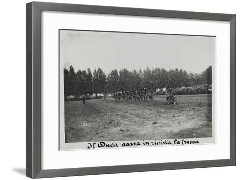 World War I: The Duke Mustering the Troops--Framed Art Print