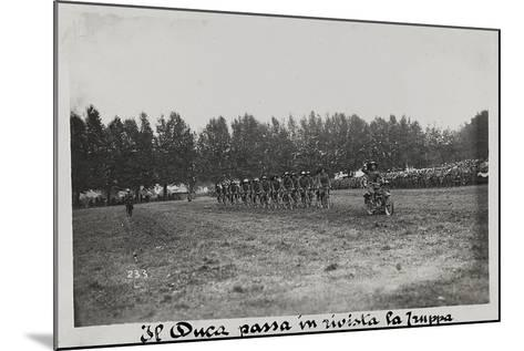 World War I: The Duke Mustering the Troops--Mounted Photographic Print