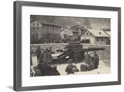 World War I: French Mission of the Minister Aristide Briand (1862-1932) on a Visit to the Front--Framed Art Print