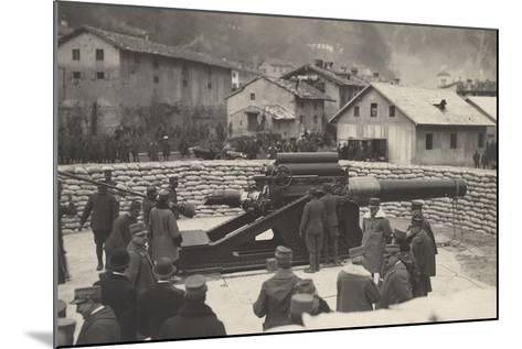 World War I: French Mission of the Minister Aristide Briand (1862-1932) on a Visit to the Front--Mounted Photographic Print