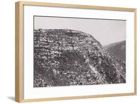 World War I: Military Post on the Mountains of Veneto--Framed Art Print