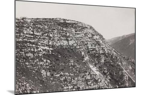 World War I: Military Post on the Mountains of Veneto--Mounted Photographic Print