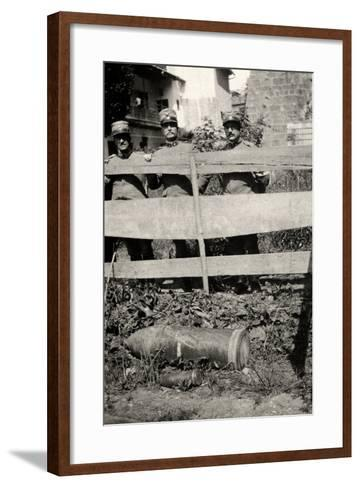 Unexploded Bomb in Gradisca D'Isonzo During WWI-Ugo Ojetti-Framed Art Print