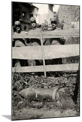 Unexploded Bomb in Gradisca D'Isonzo During WWI-Ugo Ojetti-Mounted Photographic Print