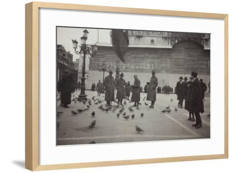 American Officers in the Piazza San Marco in Venice--Framed Art Print