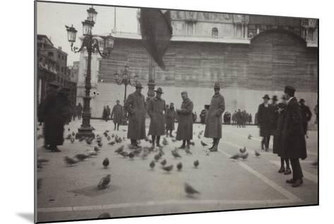 American Officers in the Piazza San Marco in Venice--Mounted Photographic Print
