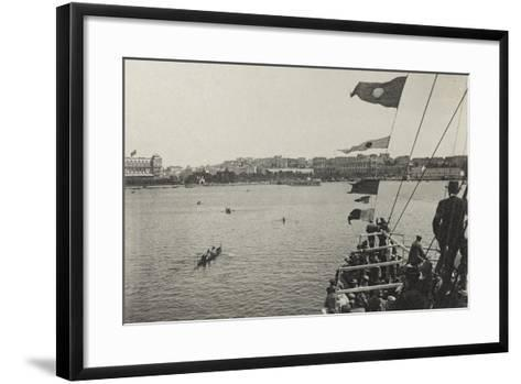 Visions of War 1915-1918: While a Ship Reaches Port Pula-Vincenzo Aragozzini-Framed Art Print