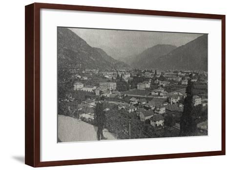 Visions of War 1915-1918: View of Trento at the End of the First World War-Vincenzo Aragozzini-Framed Art Print