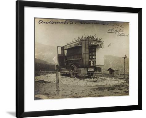 Pigeon Car Used During the First World War--Framed Art Print