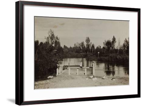 Seen with Bathtub--Framed Art Print