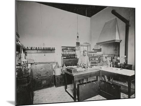 World War I: Chemical Laboratory in a Military Hospital--Mounted Photographic Print