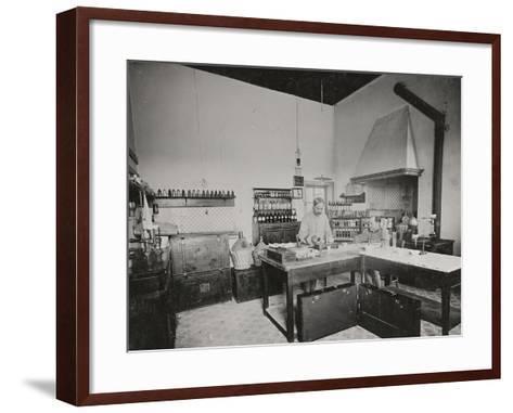 World War I: Chemical Laboratory in a Military Hospital--Framed Art Print