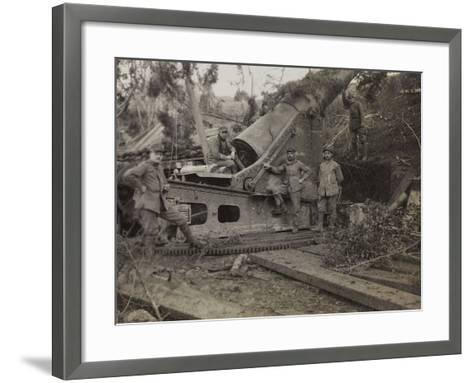 S280 Howitzer During the First World War-Luigi Verdi-Framed Art Print