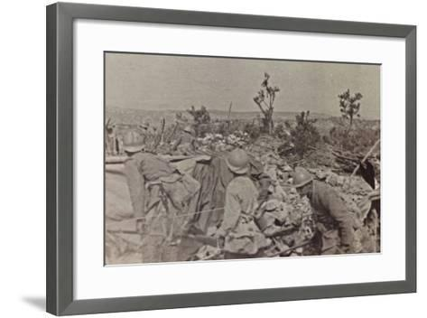 Campagna Di Guerra 1915-1916-1917-1918: Soldiers in the Trenches on Monte Cosich--Framed Art Print