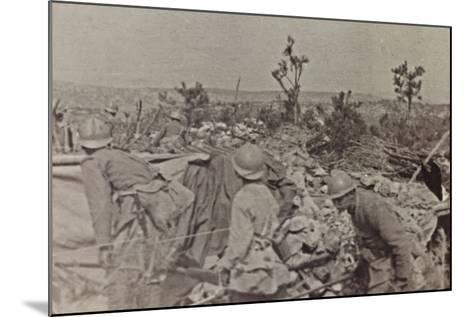 Campagna Di Guerra 1915-1916-1917-1918: Soldiers in the Trenches on Monte Cosich--Mounted Photographic Print