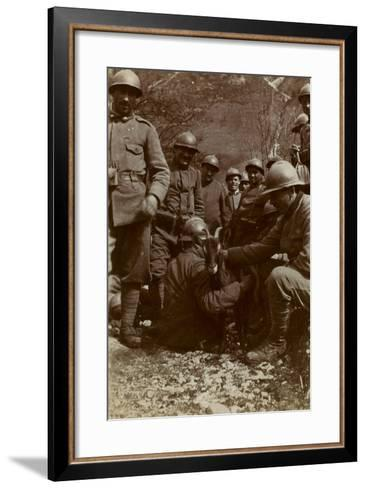 Free State of Verhovac-July 1916: Italian Soldiers with Goat in the Field Fous Rio in Val D 'Aupa--Framed Art Print