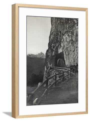 Military Tank in a Mountain Road Between Cortina D 'Ampezzo Falzarego--Framed Art Print