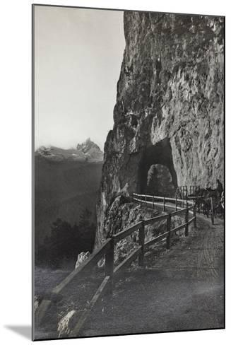 Military Tank in a Mountain Road Between Cortina D 'Ampezzo Falzarego--Mounted Photographic Print