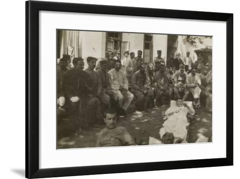 Group of Wounded Soldiers in a Military Hospital During the First World War--Framed Art Print