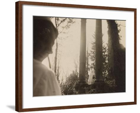 WWI: Visit the Marquise in the Role of Red Cross Nurse to the Ruins of a Temple--Framed Art Print